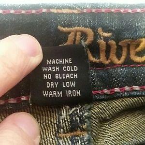 Antique Rivet Jeans - EUC Antique Rivet Flap Pocket Embellished Size 36